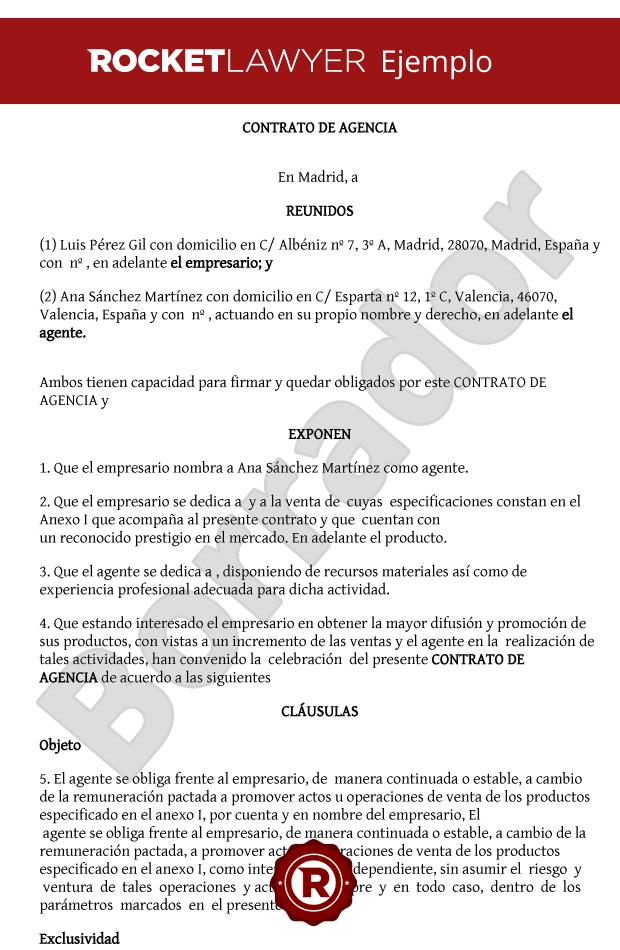 Modelo De Contrato De Agencia Crea Tu Contrato De