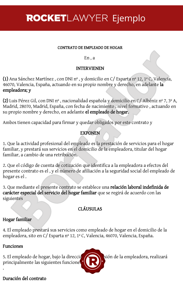 modelo contrato empleada hogar 2015 colombia 89 contrato