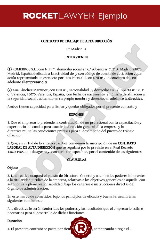 Modelo adenda contrato laboral modelo adenda contrato for Modelo contrato indefinido