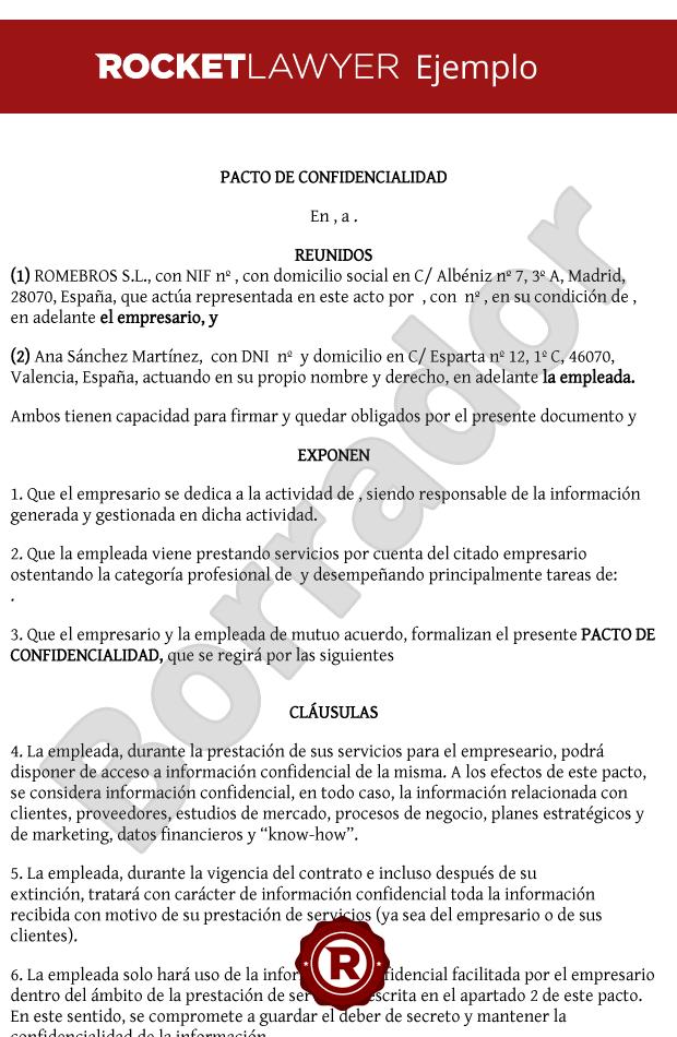 Ejemplos De Contrato Para Empleados Calam 233 O