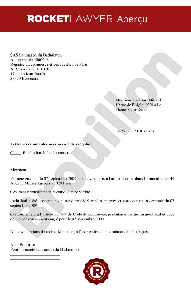 Résiliation De Bail Commercial Hors échéance