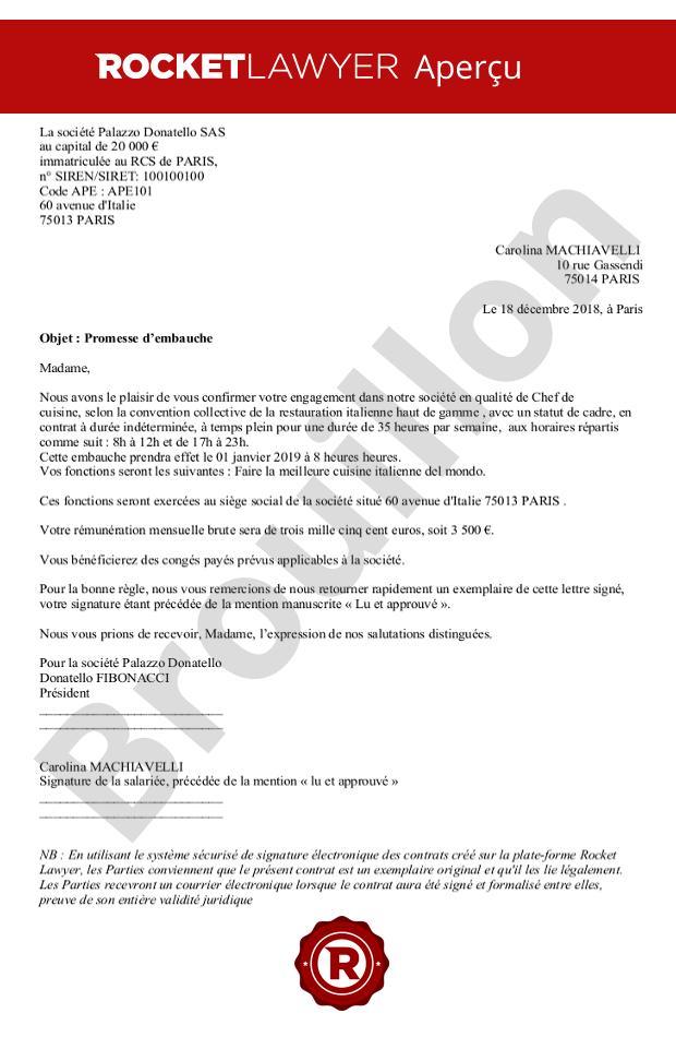 c73e6386bbd Promesse d embauche