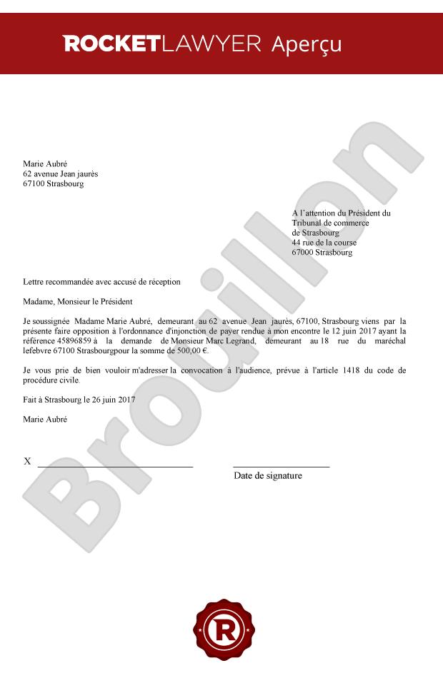 lettre de contestation dune mise en demeure de payer