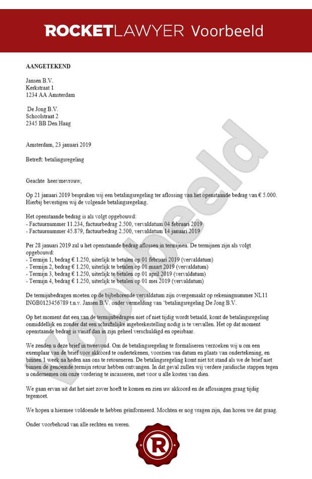 voorbeeld brief betalingsregeling Betalingsregeling Opstellen | Makkelijk en Snel