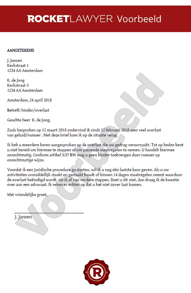 gebreken huurwoning voorbeeldbrief Maak nu zelf een Brief Burenoverlast op Maat! gebreken huurwoning voorbeeldbrief