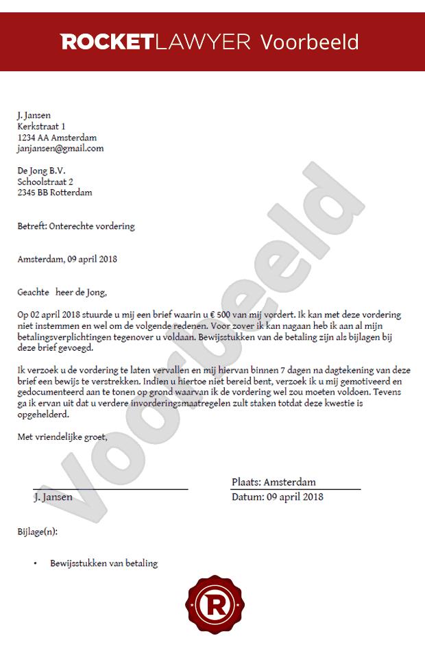 voorbeeldbrief bewijs van betaling Maak nu je Brief Onterechte Rekening op Maat! voorbeeldbrief bewijs van betaling
