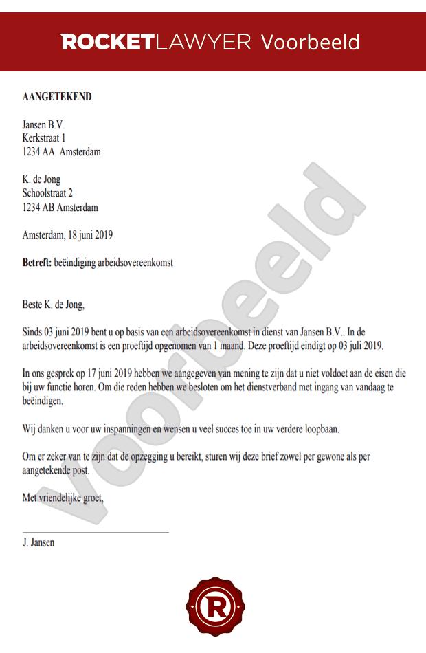 hoe ontslagbrief opstellen Brief Ontslag In Proeftijd Opstellen | Gratis