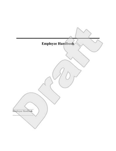 Sample Employee Handbook Template