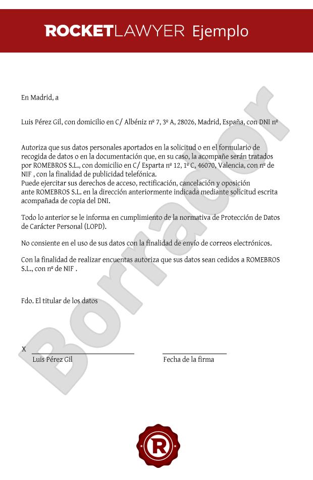 solicitud de consentimiento para recogida y cesi u00f3n de datos