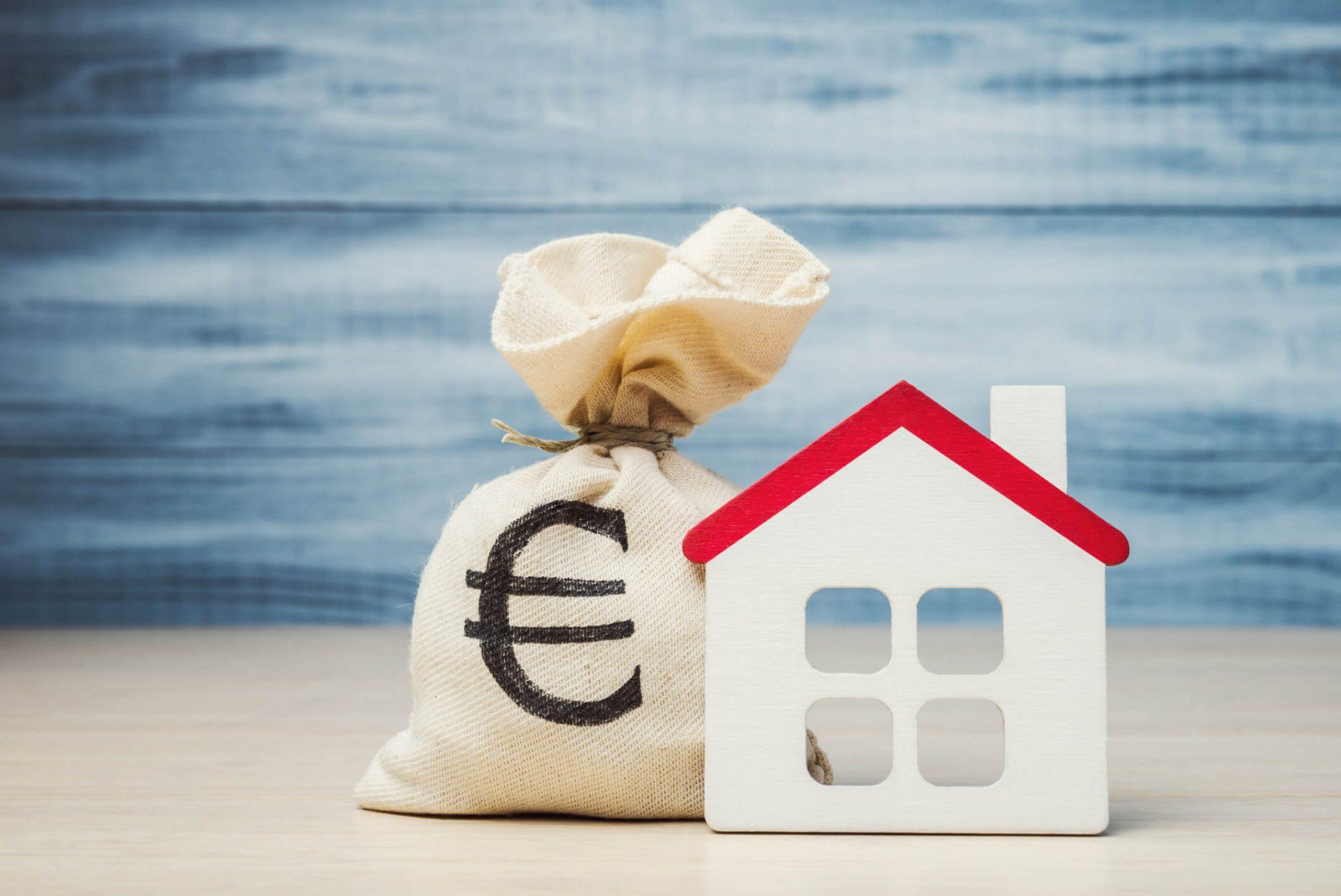 Maison avec des euros