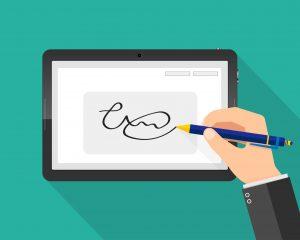 fond_vert_signature_électronique_tablette