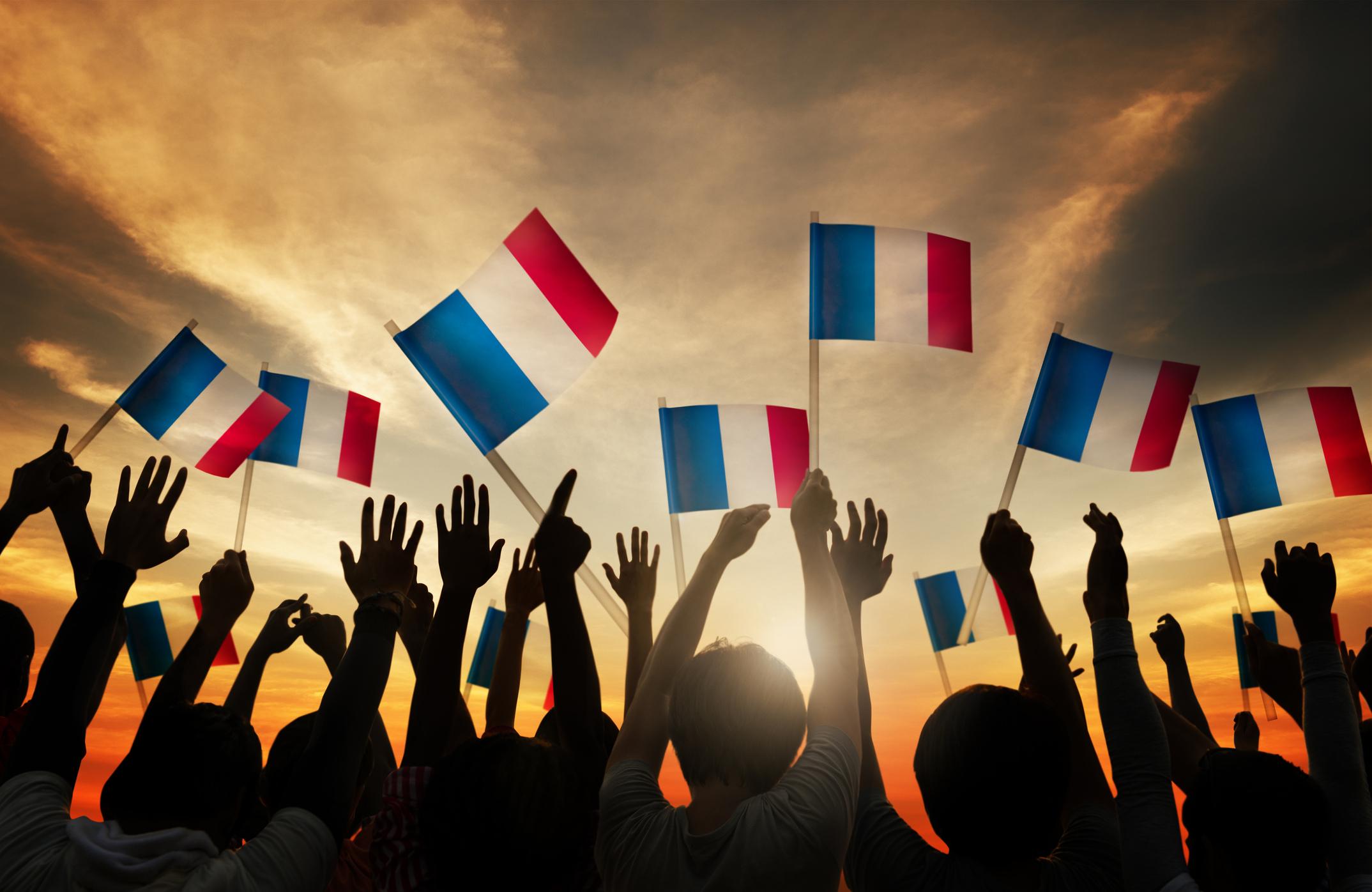 personnes tenant drapeaux