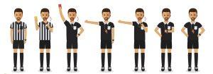 Les gestes de l'arbitre de football