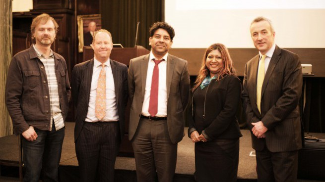 Panel of speakers at the Society of Asian Lawyers - Future of law event - March 2016