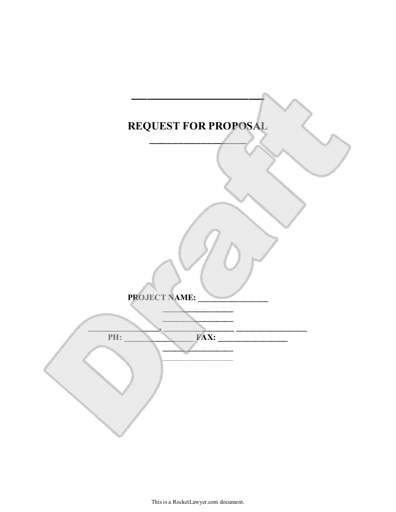 Sample Request for Proposal Form Template