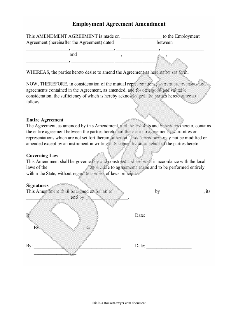 Sample Employment Agreement