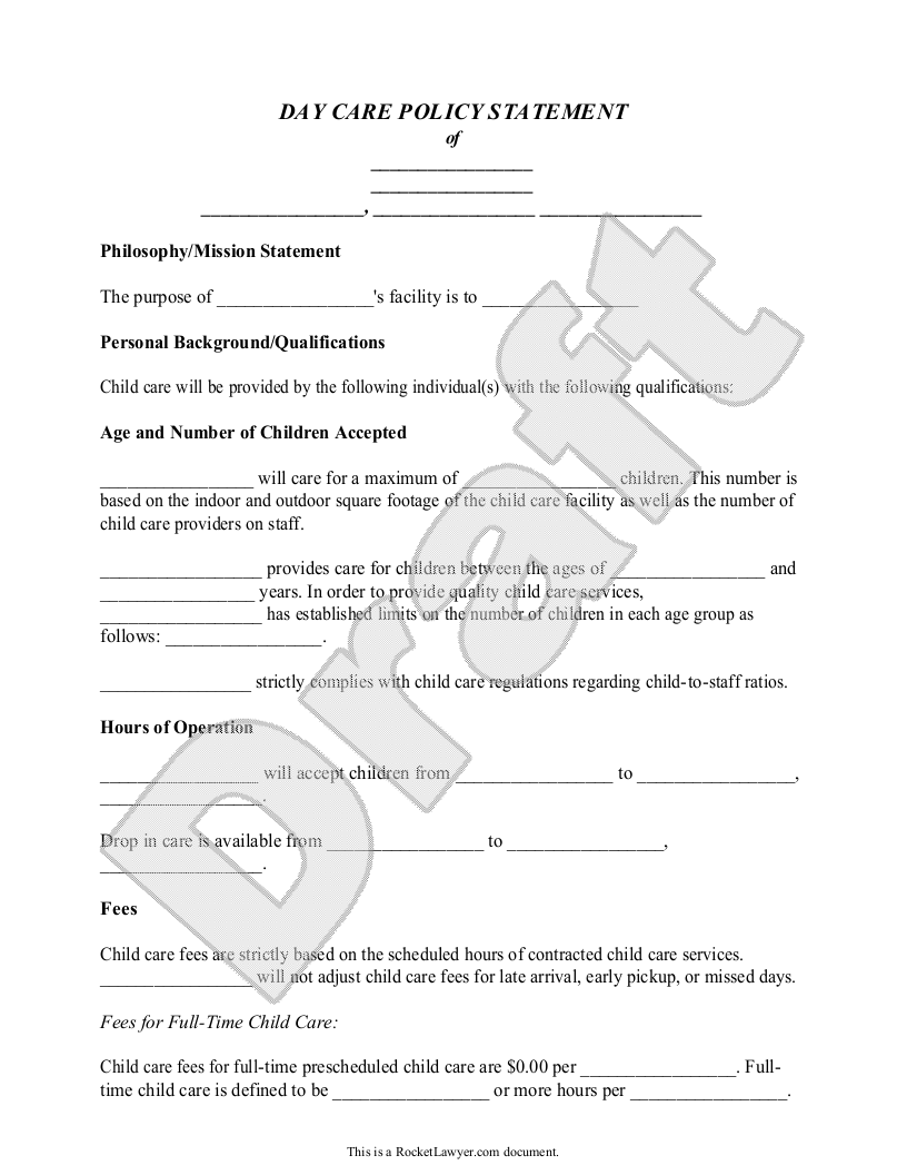 Statement Form Template Statement Form Template