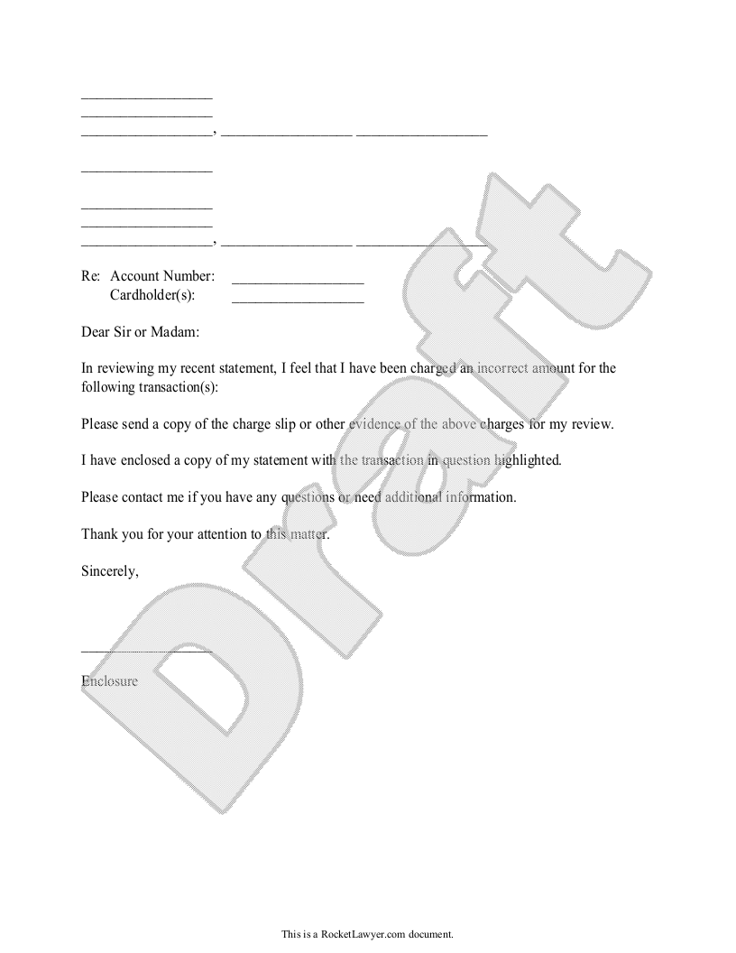Sample Credit Card Inquiry Form Template