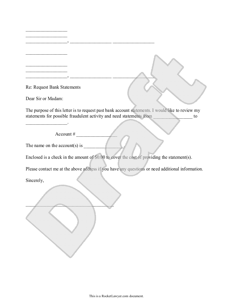 Statement Form Template Statements Form Template