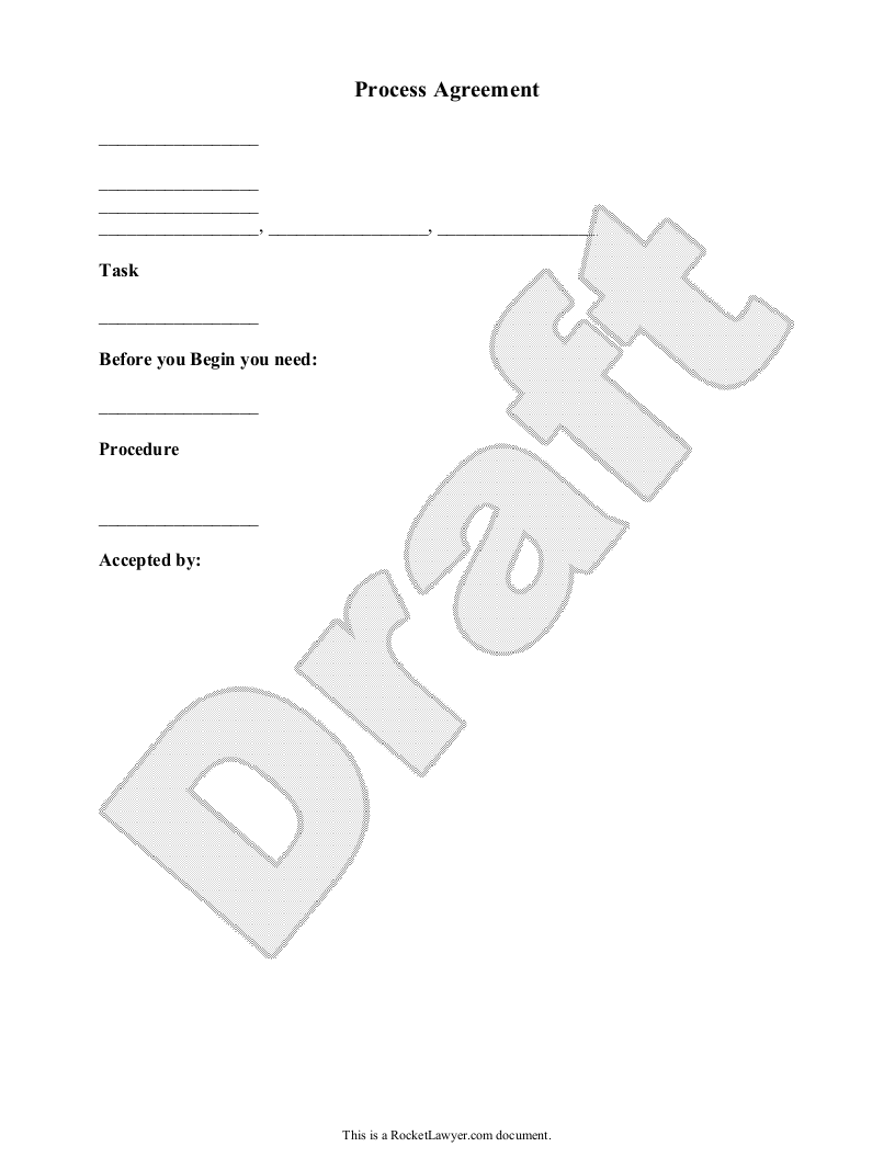 Sample Process Agreement Form Template