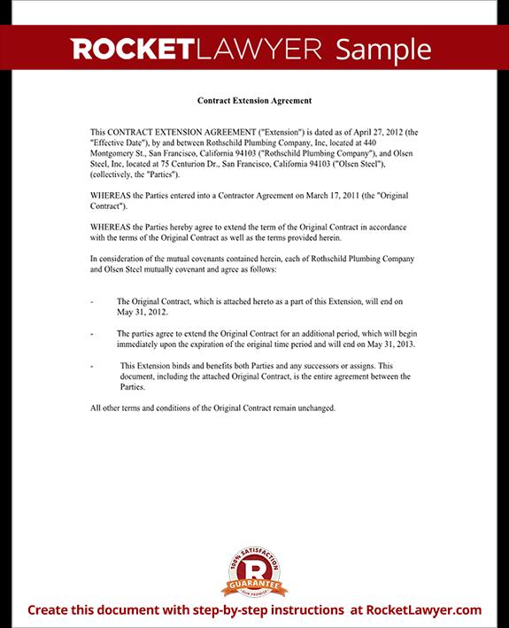 Bid Extension Request Letter Sample