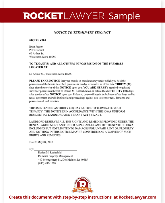 iowa eviction notice form