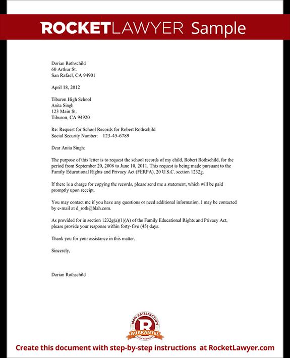 Sample Letter Requesting College Transcripts
