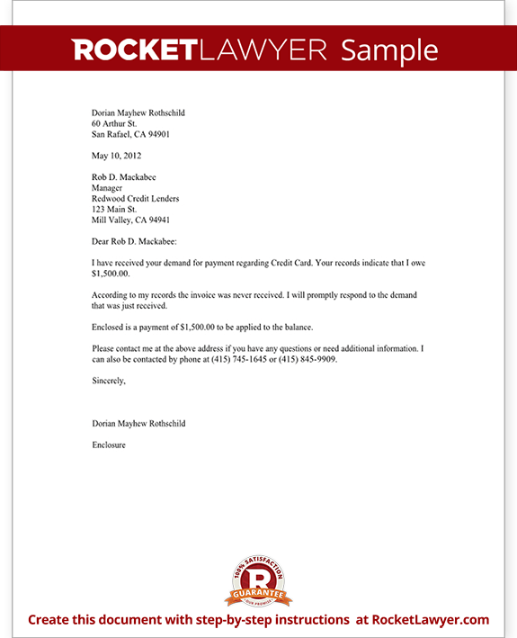 Payment request letter template letter to debt collector debt collector letter template with sample spiritdancerdesigns Images