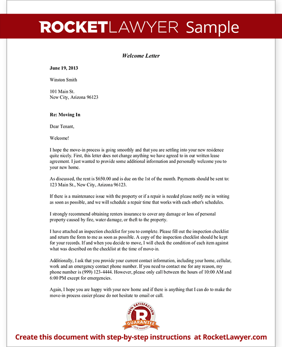 Welcome Letter Template - Free Welcome Letter (with Sample)
