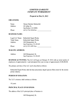 llc operating agreement template free forms for starting an llc