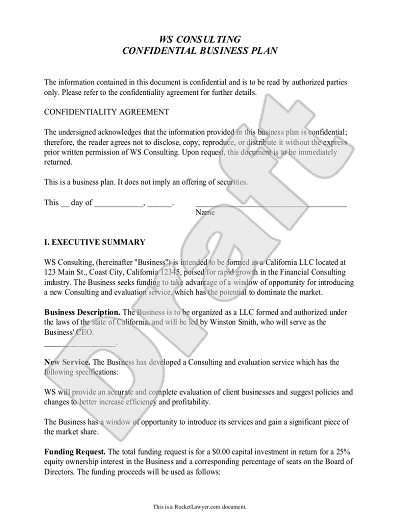 Business Plan Template Customize And Print Your Form - Business plan templates