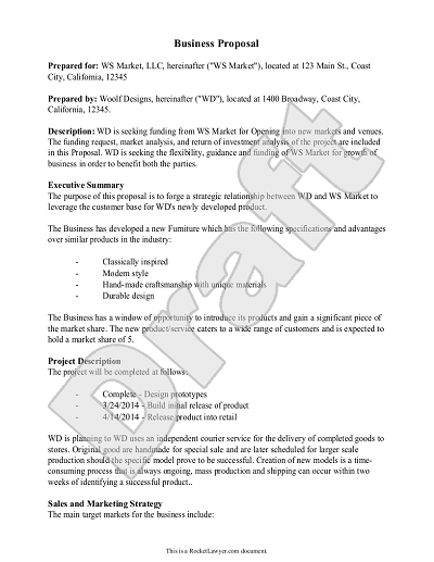 Business Proposal Template Example Business Proposal – Business Proposal Document Template