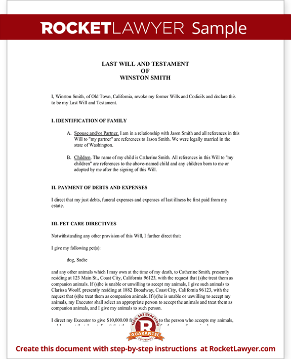 Last Will And Testament Template Best Business Template