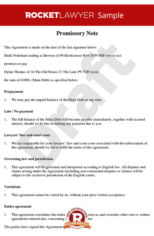 how to write an iou template - promissory note free promissory note template