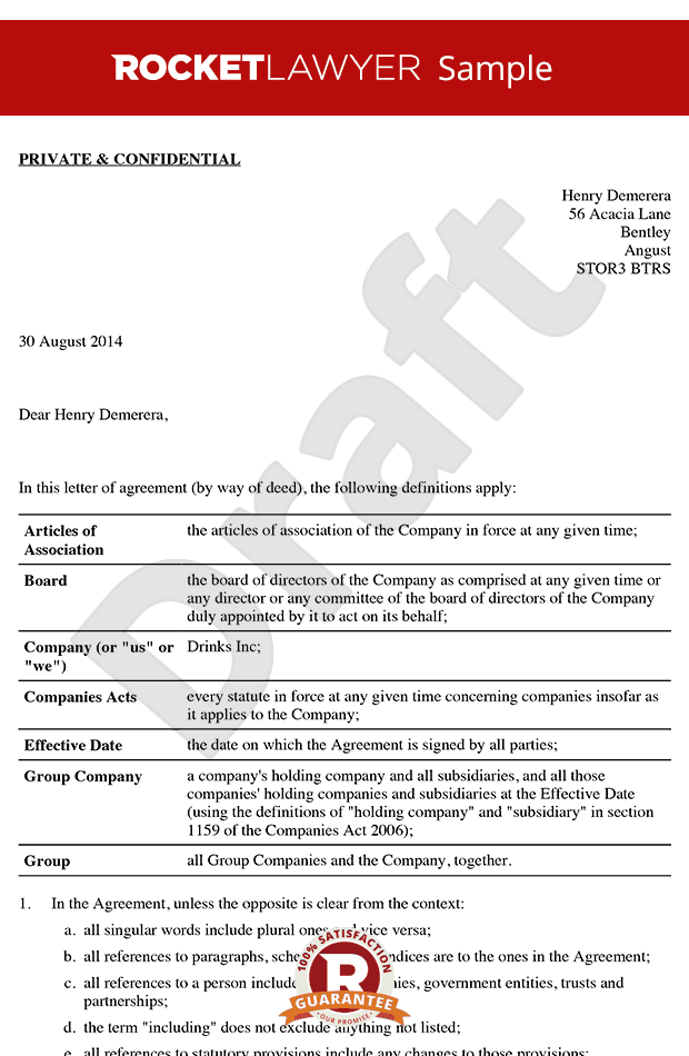 LOA Sample - Non-Executive Director Letter of Appointment Template