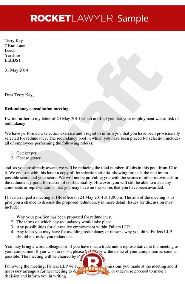 Redundancy Consultation Letter