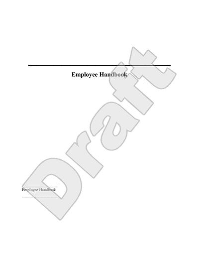 Download free employee handbook guidelines california for Employee handbook cover design template
