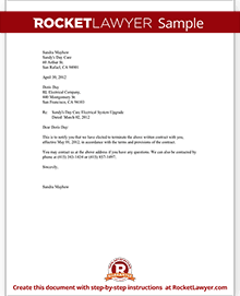 Letter To Cancel Service Contract from www.rocketlawyer.com
