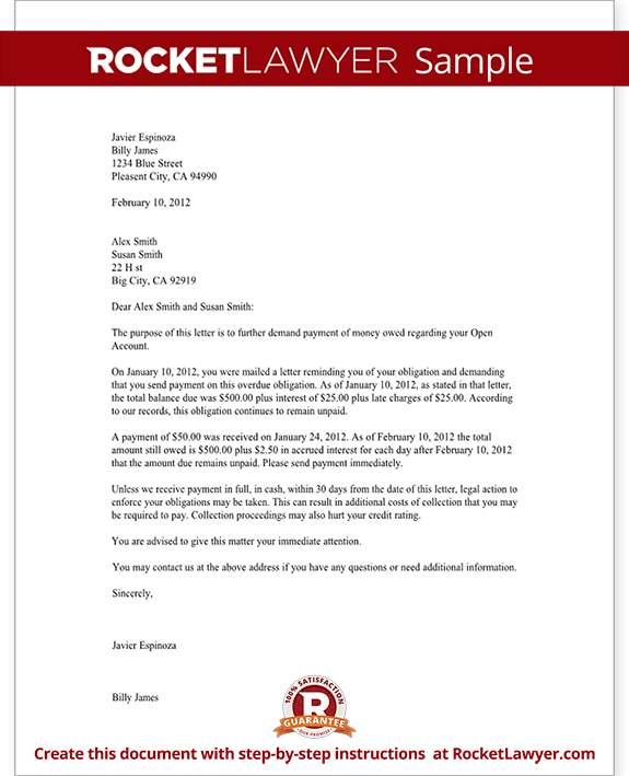 Past Due Letter - 60 Days - Collections Letter Sample, Template