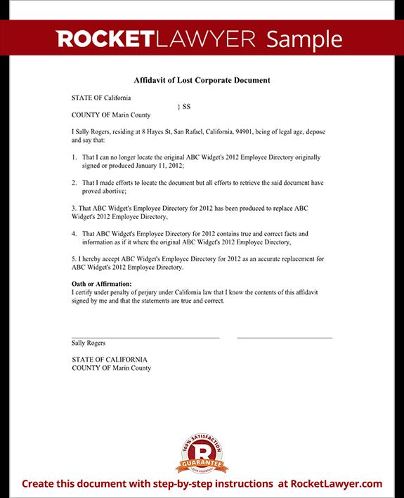 affidavit of lost corporate document form stock certificate sample. Black Bedroom Furniture Sets. Home Design Ideas