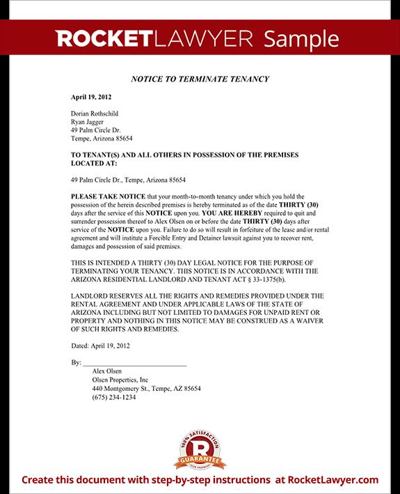 Arizona Eviction Notice Form Arizona Eviction Notice Sample – Printable Eviction Notice Form
