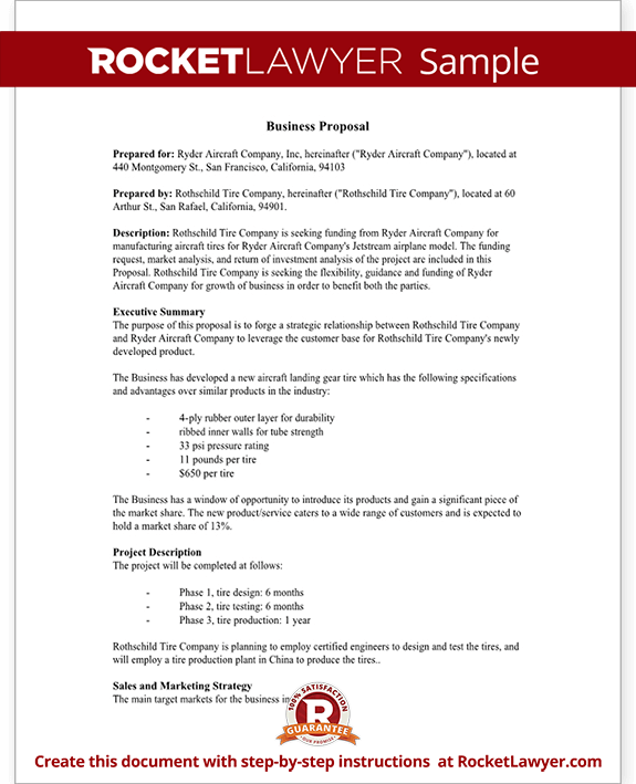 Business Proposal Template Free Business Proposal Sample – Free Examples of Business Proposals
