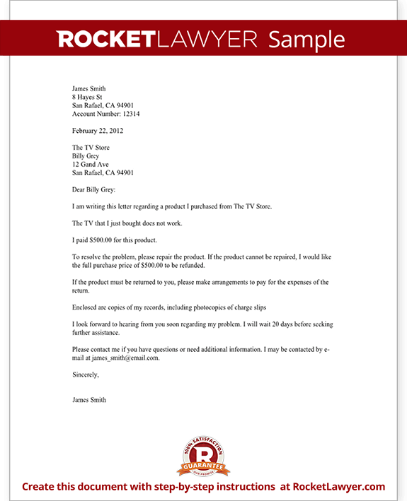Complaint Letter to a Company Template with Sample – Complaint Mail Format
