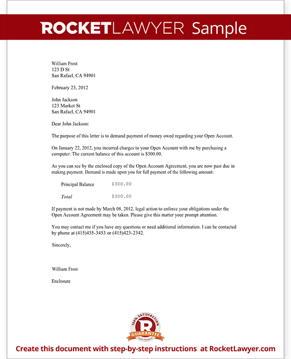 Demand Letter Template For Owed Money