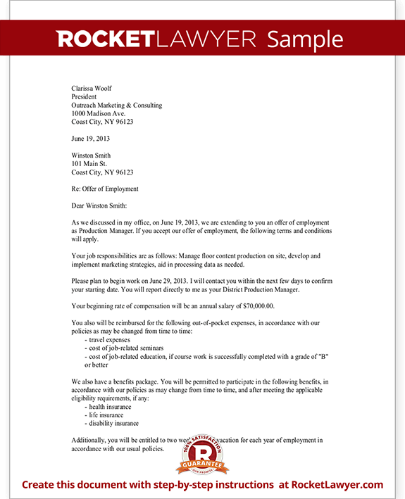 sample employment confirmation letter