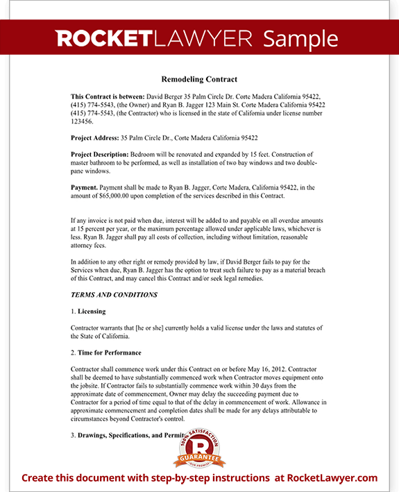 Home Improvement Contract Agreement Template (with Sample)