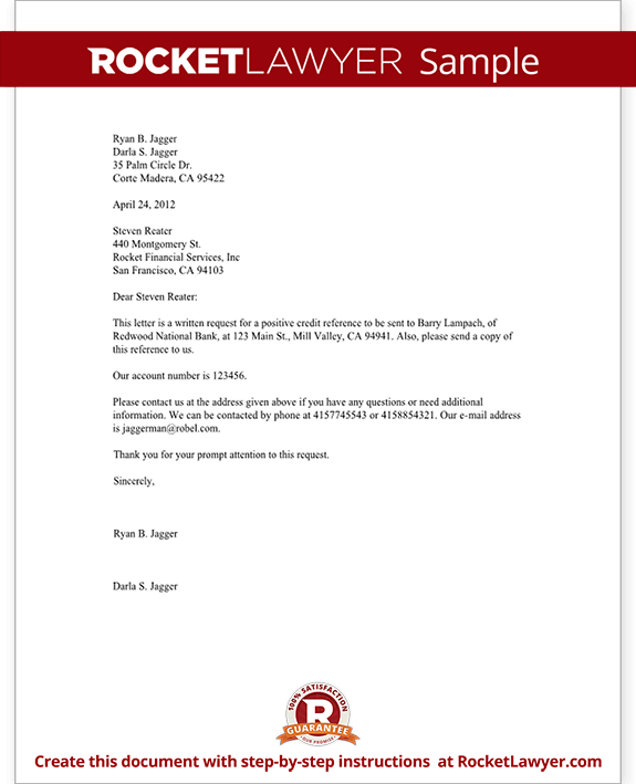 Letter To Request A Credit Reference Template With Sample