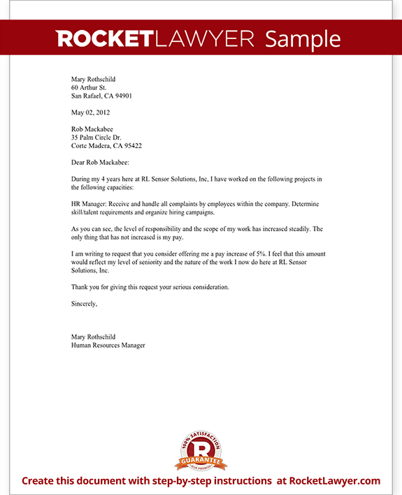Salary Increase Letter Asking For a Raise – Salary Review Letter Template