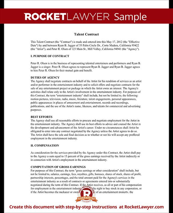 talent agreement