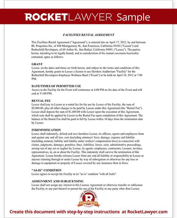 Venue Contract Template - Venue Rental Contract Agreement (with ...